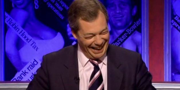 Nigel Farage Appears On Have I got News For You, Is Promptly Torn To