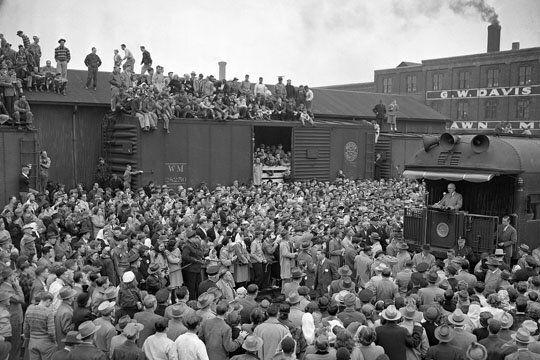2014 Midterm Election's Billion Dollar Budget vs Harry Truman's 1948 Whistle Stop
