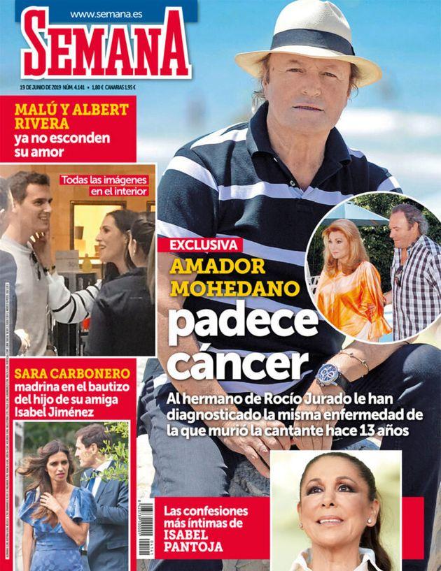 Amador Mohedano, sobre la noticia del cáncer: