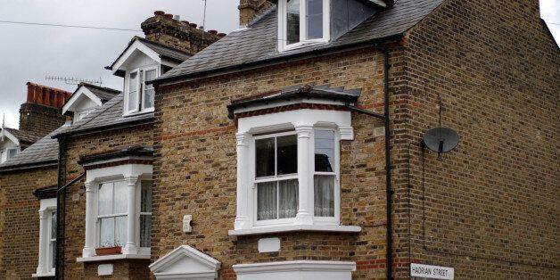 Traditional terraced properties in Greenwich on June 4, 2014 in London,