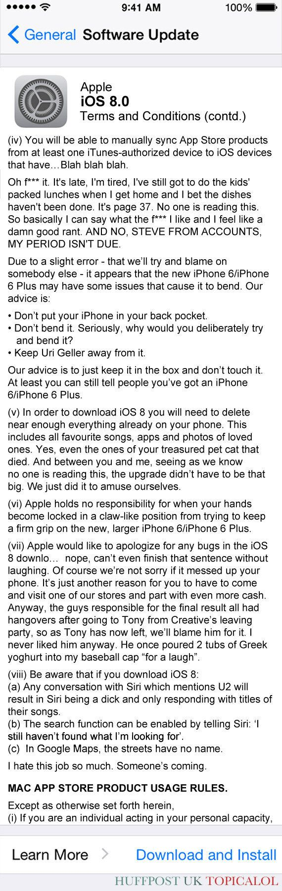 The Apple iOS 8 Terms And Conditions You Might Have