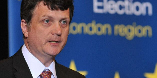 Gerard Batten of UKIP talking after his election to the European Parliament at City Hall in central London,...
