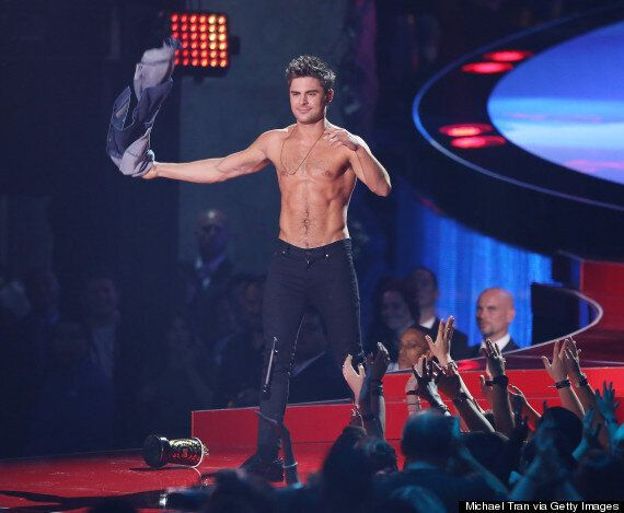 Zac Efron Has His Shirt Ripped Off By Rita Ora At The MTV Movie Awards (VIDEO,