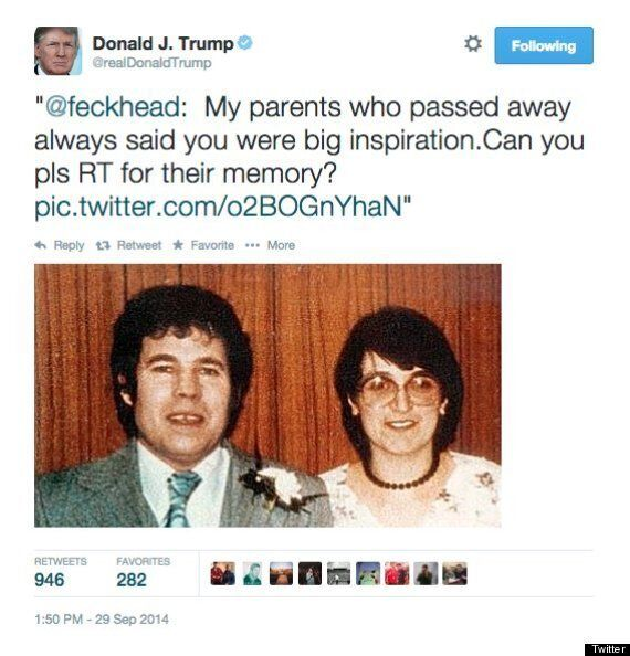 Donald Trump Is Bombarded With Hilarious Retweet Requests After His Fred And Rosemary West Twitter