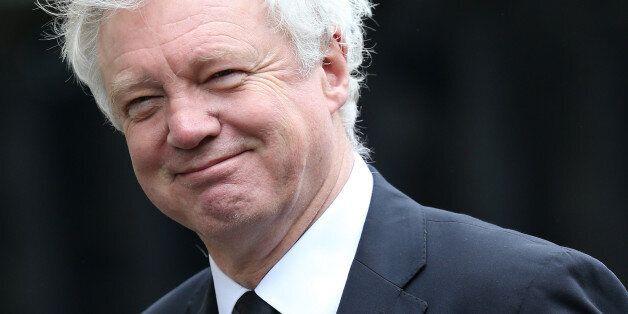 LONDON, ENGLAND - APRIL 17: David Davis MP attends the Ceremonial funeral of former British Prime Minister...