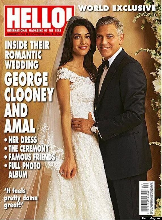 George Clooney Wedding Photos: Amal Alamuddin's Dress Revealed In Newlyweds' First Official Pictures