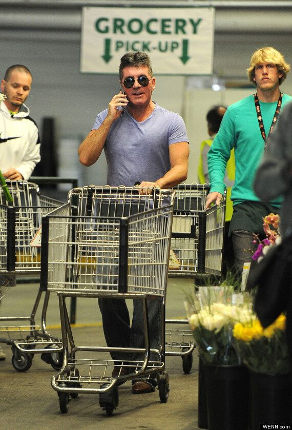Simon Cowell Does His Own Shopping? 'X Factor' Boss Pushes Trolley Around LA Supermarket