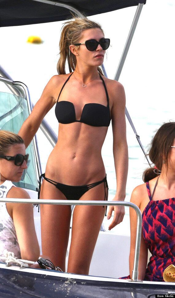 Abbey Clancy Shows Off Beach Body In Barely-There Bikini On Holiday In Dubai