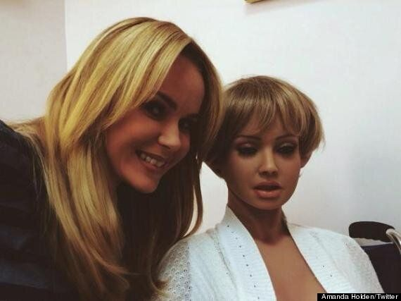 Amanda Holden Poses With Life-Size Plastic Doll Backstage On 'This Morning', Twitter Asks 'Which Is Which?'...