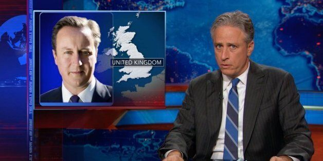 'Cameron - What Are You Doing?!' The Daily Show's Jon Stewart Is Amazed By The British Debate On Iraq...