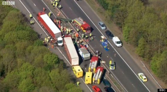 M26 Closed After Four-Vehicle Pile-Up On Westbound