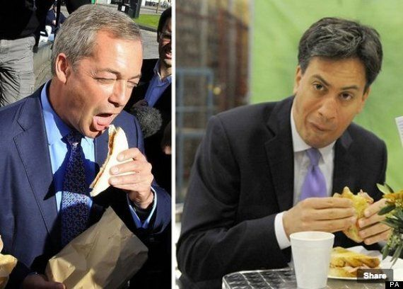 Nigel Farage Takes On Ed Miliband By Tucking Into Bacon Sandwich, Does Not Look Any Less