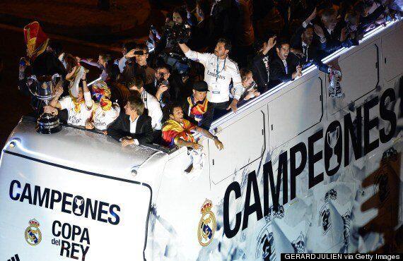 Real Madrid Celebrate Copa Del Rey Win