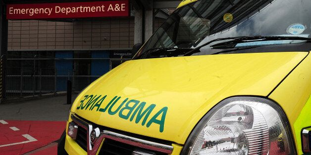 File photo dated 07/04/11 of an ambulance outside the entrance to an Accident & Emergency department...