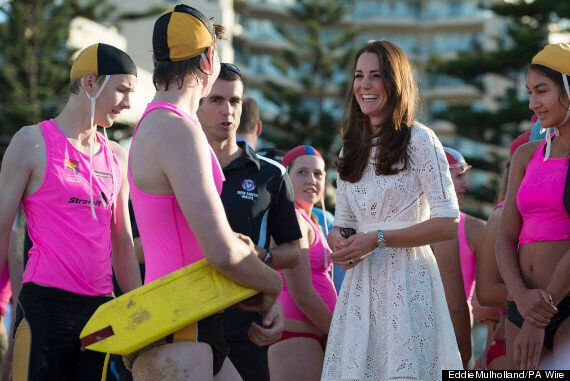 Kate Middleton Does 'Baywatch' Run In Nude Wedges, Jokes About Will's Bald Patch