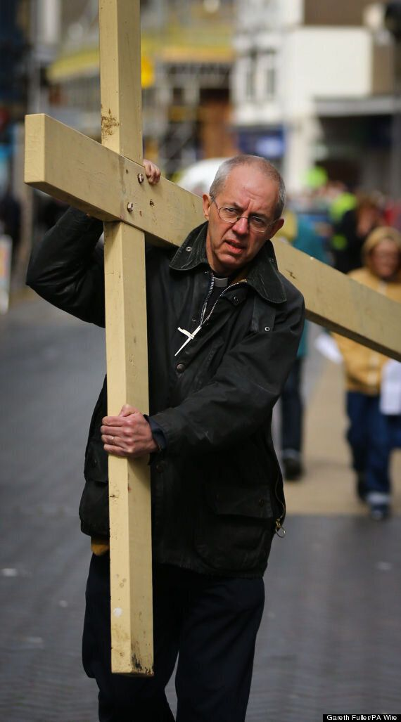 Good Friday: Archbishop Justin Welby Carries Cross Through Dover