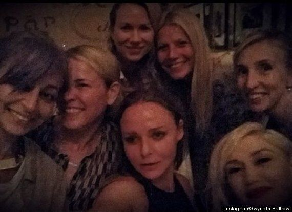 Gwyneth Paltrow Posts 'Girls Night' All-Star Selfie On Instagram Following 'Conscious Uncoupling' From...
