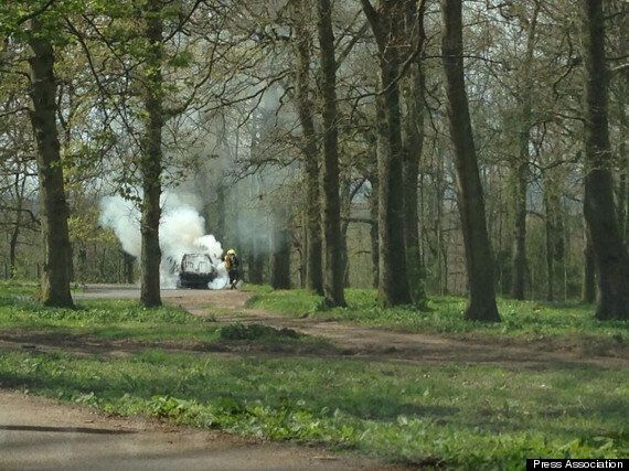 Family's Car Catches Fire Among Lions At Longleat Safari Park