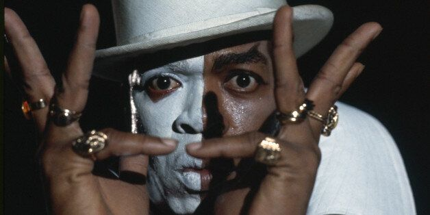 West Indian actor Geoffrey Holder plays the mysterious Baron Samedi in the James Bond film 'Live and...