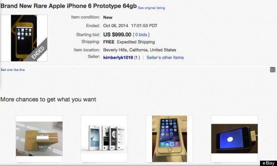 Experimental iPhone 6 Prototype Is Selling For