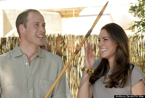 Kate Middleton And Prince William Admire Paintings Made Of Wallaby Droppings During Uluru Visit