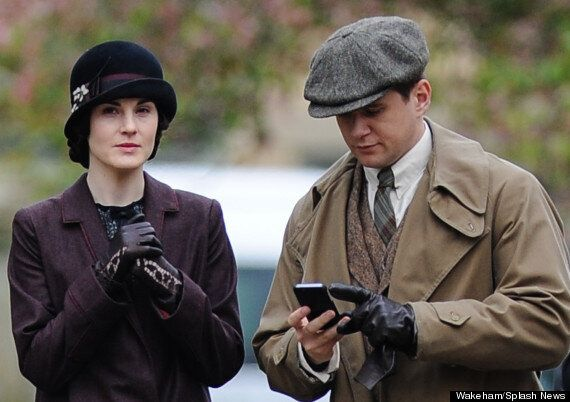 'Downton Abbey' Series 5: Cast Including Hugh Bonneville, Michelle Dockery Spotted Filming New Episodes