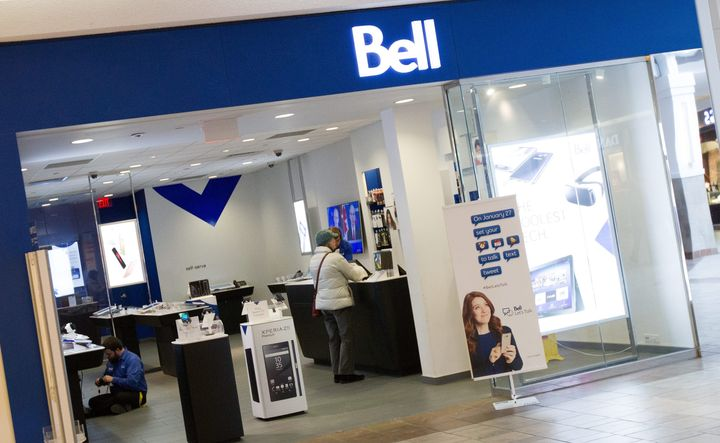 A Bell store at the Cataraqui Shopping Centre in Kingston, Ont.