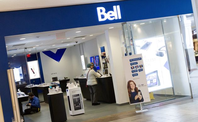 A Bell store at the Cataraqui Shopping Centre in Kingston,
