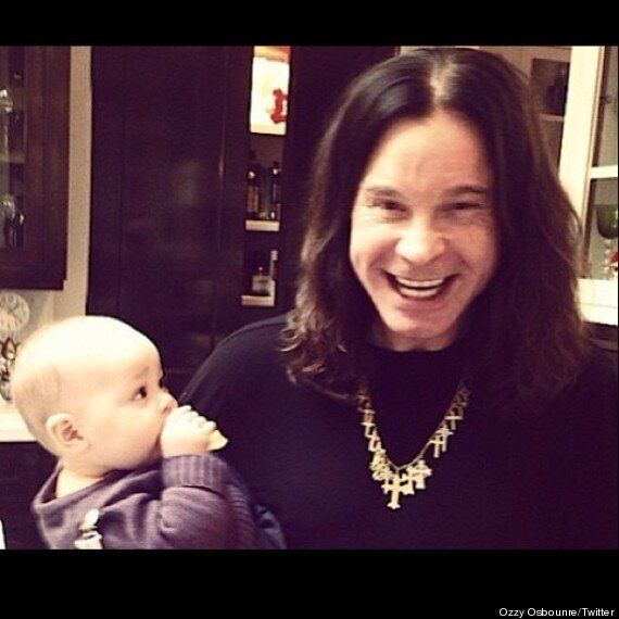 Ozzy Osbourne Posts Adorable Picture With Jack's Daughter Pearl As They Welcome In The New