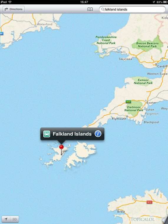 Falkland Islands Row: At Last, Apple Maps Get Something Right