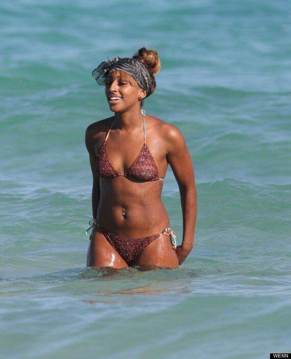 Alexandra Burke Shows Off Her Bikini Body (And Bizarre Wrist Piercing) On Beach Holiday In Miami