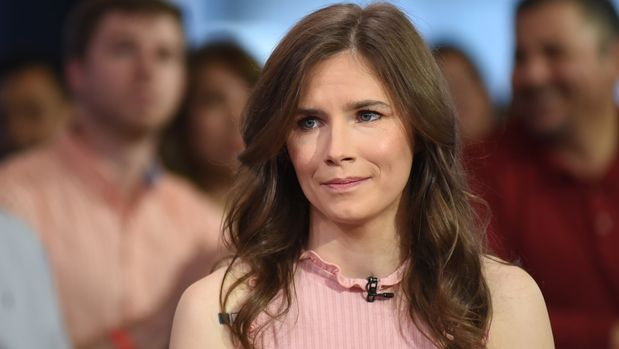 "GOOD MORNING AMERICA - Cecilia Vega interviews Amanda Knox on ""Good Morning America,"" Wednesday, May 2, 2018, airing on the Walt Disney Television via Getty Images Television Network.  (Photo by Paula Lobo/Walt Disney Television via Getty Images via Getty Images) CECILIA VEGA, AMANDA KNOX"