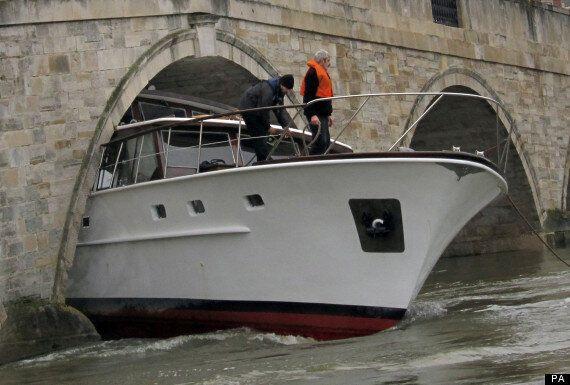 Boat Owner Gets Luxury Yacht Stuck Under Bridge In Surrey