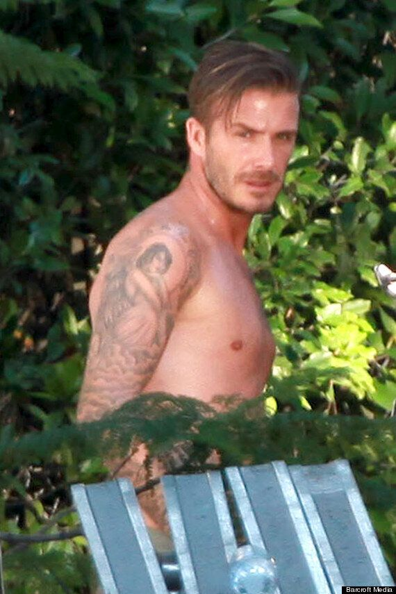David Beckham Larks About In His Pants On H&M Shoot