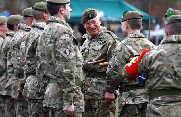 In Pictures: Charles Has Right Royal Laugh With Regiment'S Ram