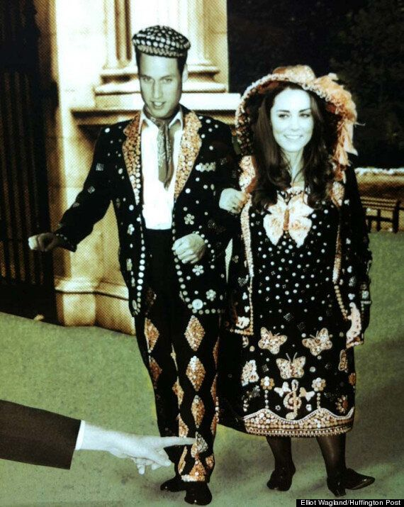 Kate Middleton As A Pearly Queen And Other Famous Figures Welcome Visitors To The Shard, The UK's Tallest