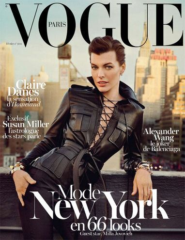 Milla Jovovich Graces the Cover of Vogue Paris February 2013: New York