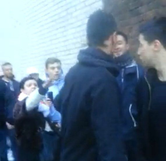 Samir Nasri Confronted By Arsenal Fans, Marouane Chamakh Acts As Bodyguard