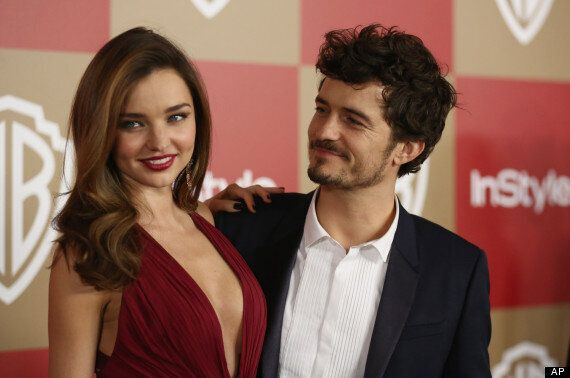 Golden Globes 2013: Orlando Bloom And Miranda Kerr Put On A United Front On The Red Carpet