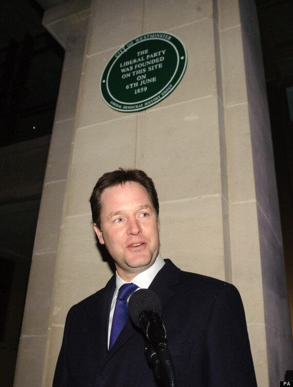 Nick Clegg Mistakenly Unveils Liberal Party 'Memorial'