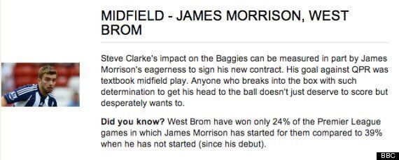 Garth Crooks Suggests James Morrison For England... Even Though He Plays For