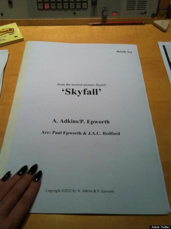 Adele Tweets 'Skyfall' Sheet Music: Does This Confirm She Will Sing
