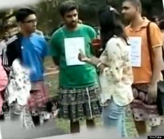Indian Gang Rape: Men Don Skirts In 'Skirt The Issue' Awareness Campaign Opposing Violence Against