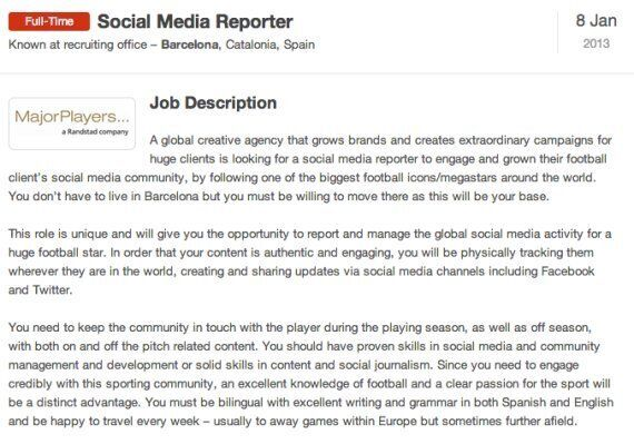 Tweeting For A Barcelona-Based Footballer And Earn