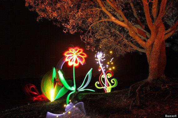 Light Artist Michael Bosanko's Lights Up Welsh