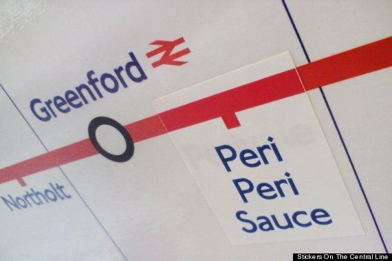 Stickers On The Central Line: London Underground Gets Plastered