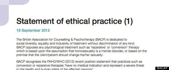 'Being Gay Is Not A Mental Disorder And Cannot Be Cured' UK Psychotherapists