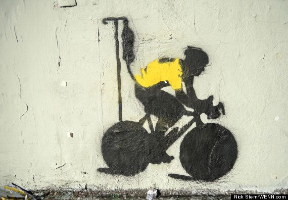 Lance Armstrong Graffiti Appears In