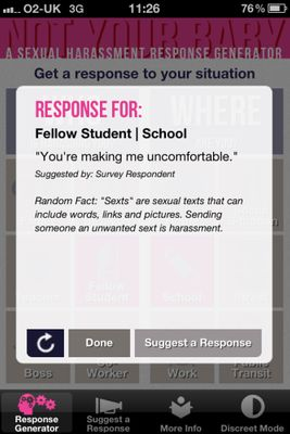 Sexual Harassment: IPhone App 'Not Your Baby' Suggests
