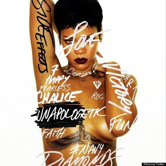 Rihanna Album Cover: Singer Poses Topless For 'Unapologetic'